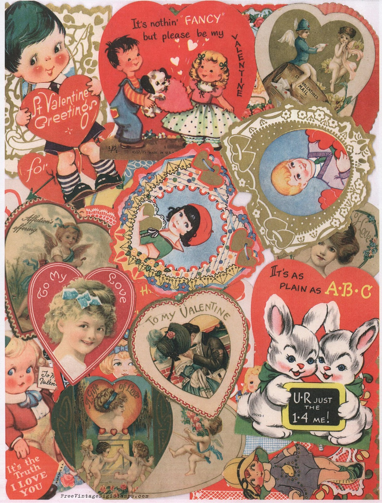 graphic regarding Free Printable Vintage Valentine Cards named Absolutely free Common Electronic STaMPS**: Absolutely free Printable - Common