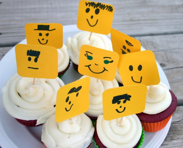 funny lego cupcake for kids
