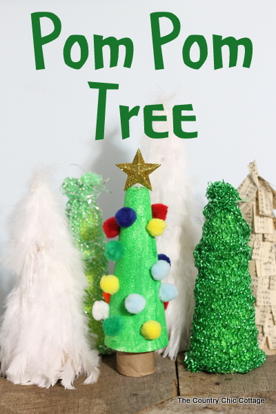 pom pom tree with kids