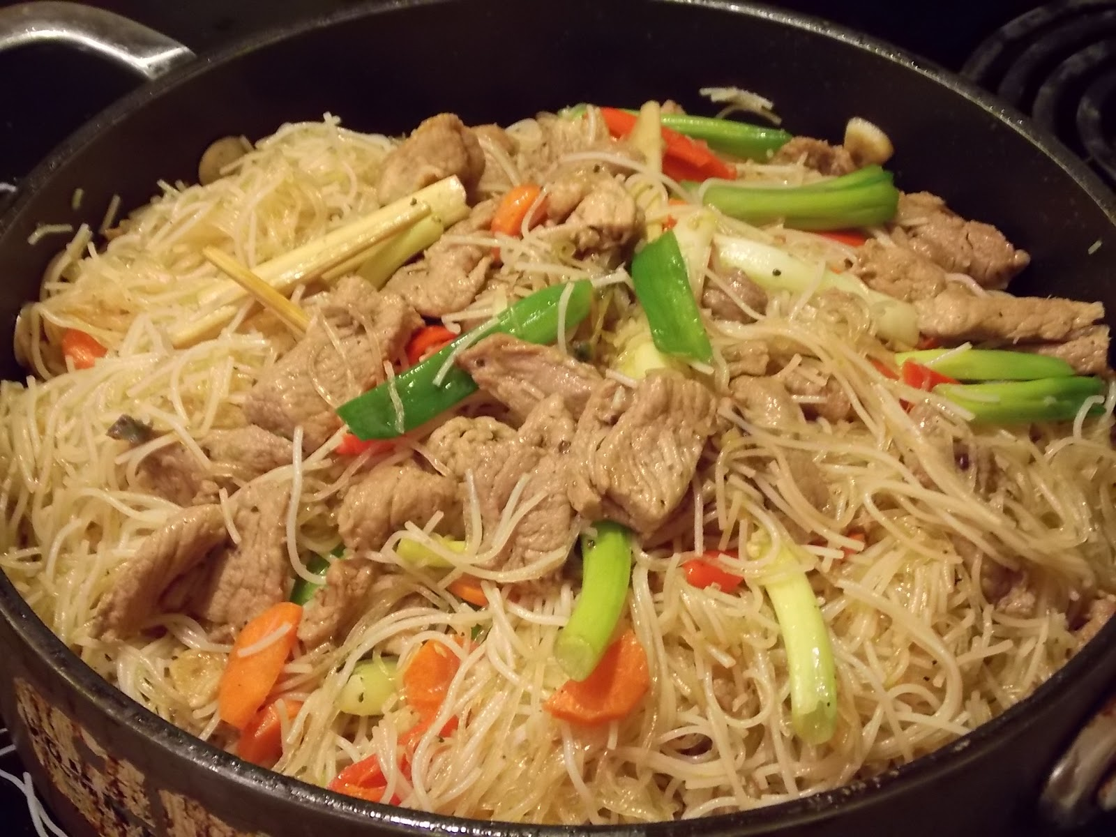 dinner noodle for flour Noodles is Glass Stir Pork Noodles and Fry Grass Rice Lemon with