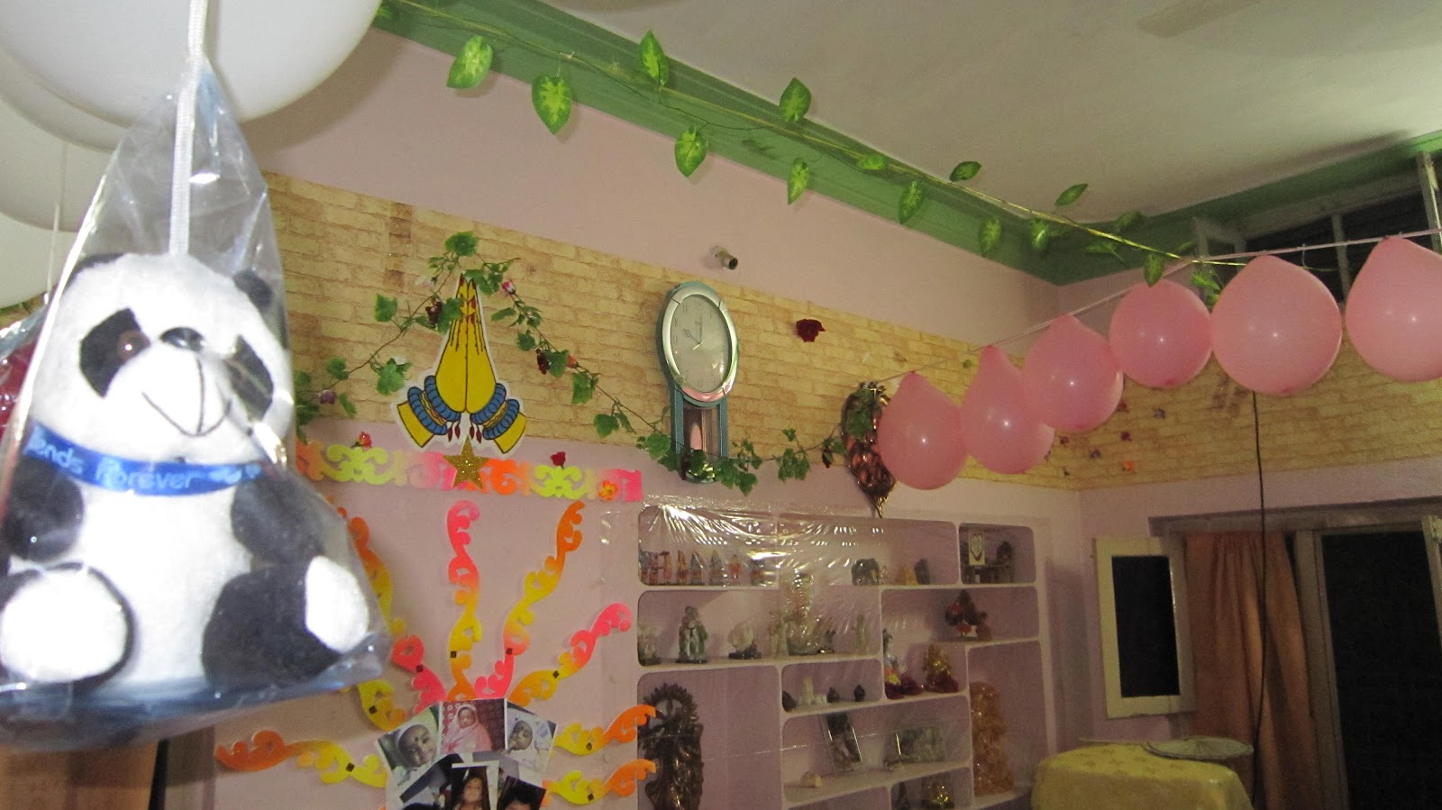 Make your own home made crafts happy birthday decoration for 1 year birthday decoration