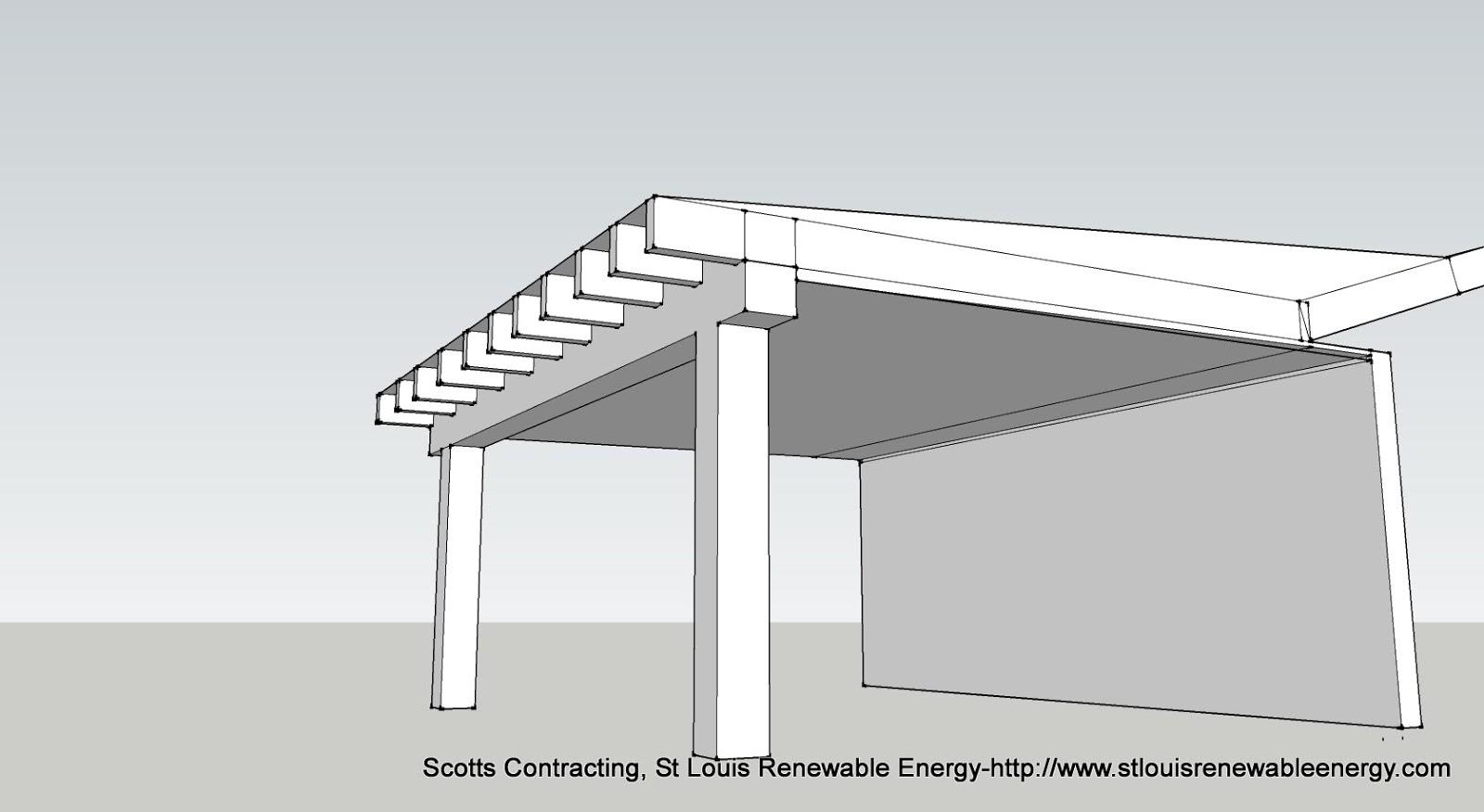 Stlouis renewable energy misc google sketch up porch for Open porch roof designs