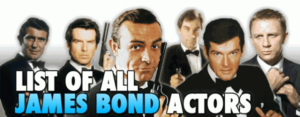 All James Bond Actors