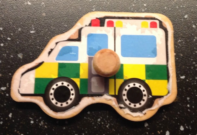 picture of a wet ambulance puzzle piece
