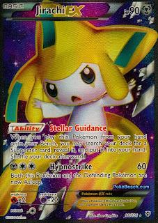 Jirachi EX Full Art Plasma Blast Pokemon Card