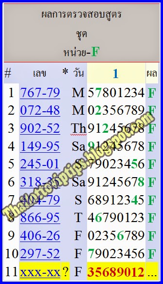 Thai lotto HTF Tass Tip paper 16-05-2014