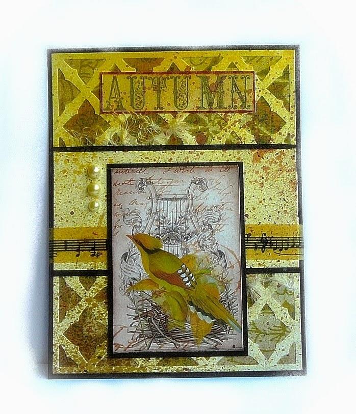 kartka w kolorach jesieni
