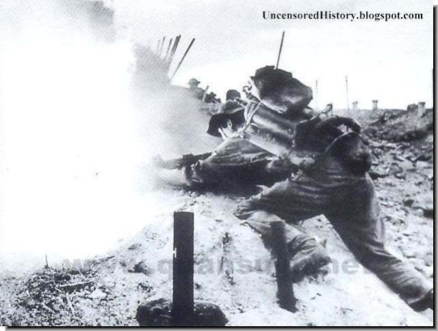 Vietcong fighter fire thrower American soldiers
