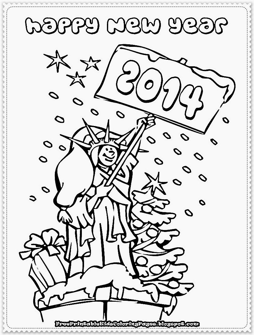 Free coloring pages new years - New Year Printable Coloring Pages Free Printable Kids Coloring Pages