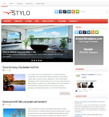 Stylo Blogger Theme