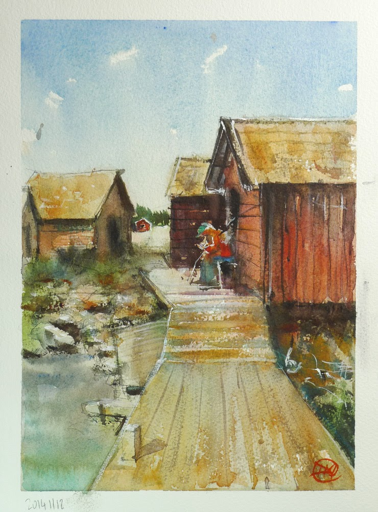 Watercolour by David Meldrum