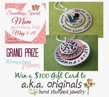 http://blogging-mamas.com/2014/05/win-100-gift-card-aka-originals-hand-stamped-jewelry-specialmom/