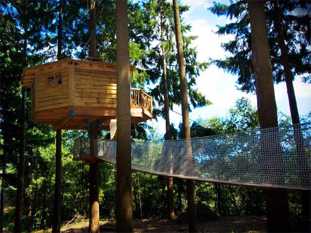 Hoteles para ni os sant hilari sacalm girona hotel cabanes als arbres - Casas en los arboles girona ...