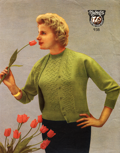 The Vintage Pattern Files: Free 1950's Knitting Pattern - Women's Twin Set