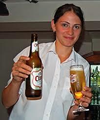 girl serving in bar