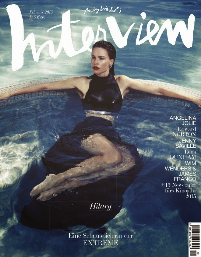 Hilary Swank shows off skin for Interview Magazine's February 2015 issue