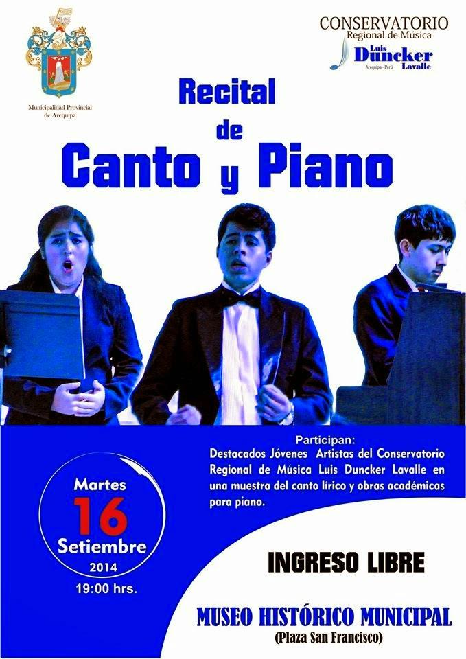 Recital de canto y piano Arequipa