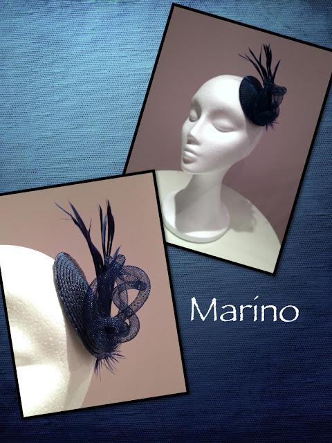 Tocado Azul Marino