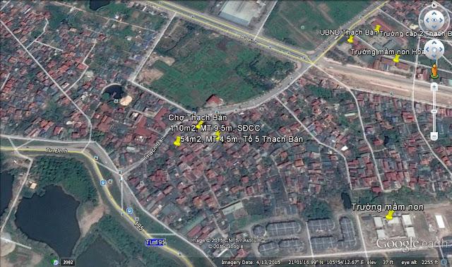bán đất tổ 5 thạch bàn, dt 54m2, mt 4,5m, sổ đỏ, 2015