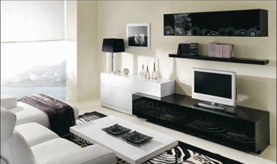 foto sala decorada moderna