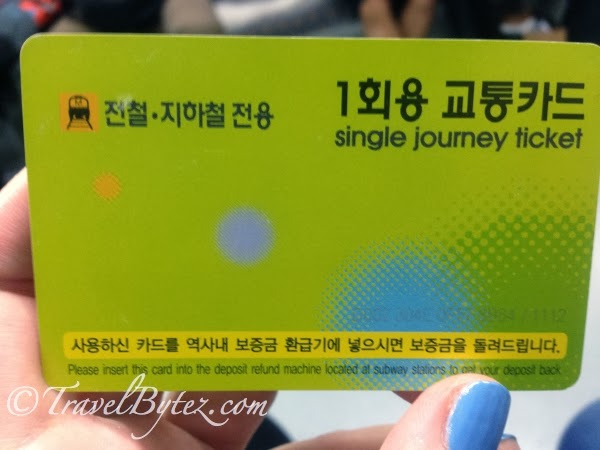 The Single Journey Transportation Card Front View