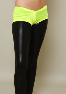 yellow neon booty shorts