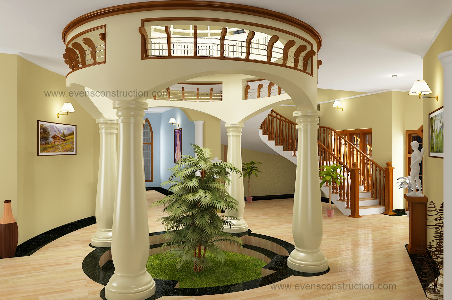 Round Courtyard Design Home