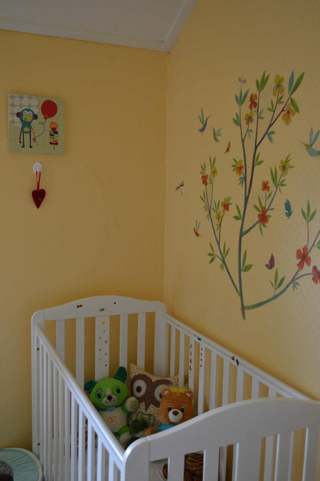 in my toddler s bedroom our seaside baby my little boy is still in his cot and despite being very tall for his age there is still quite a bit of room left i m liking it for now as he