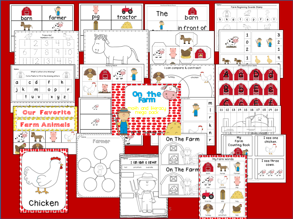 https://www.teacherspayteachers.com/Product/Farm-MEGA-Math-Literacy-Learning-Pack-1782467