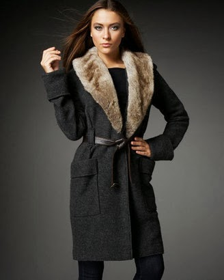 Amazing dark grey winter coat