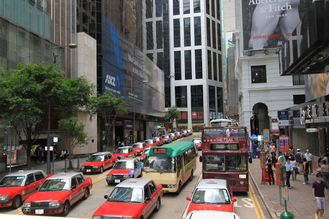 It is easy to get public transportation in Hong Kong