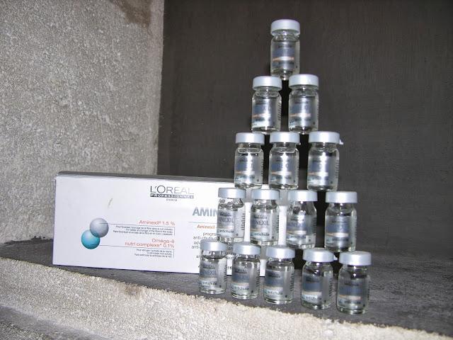 Programme avancé anti-chute double action, Aminexil de L'Oréal.