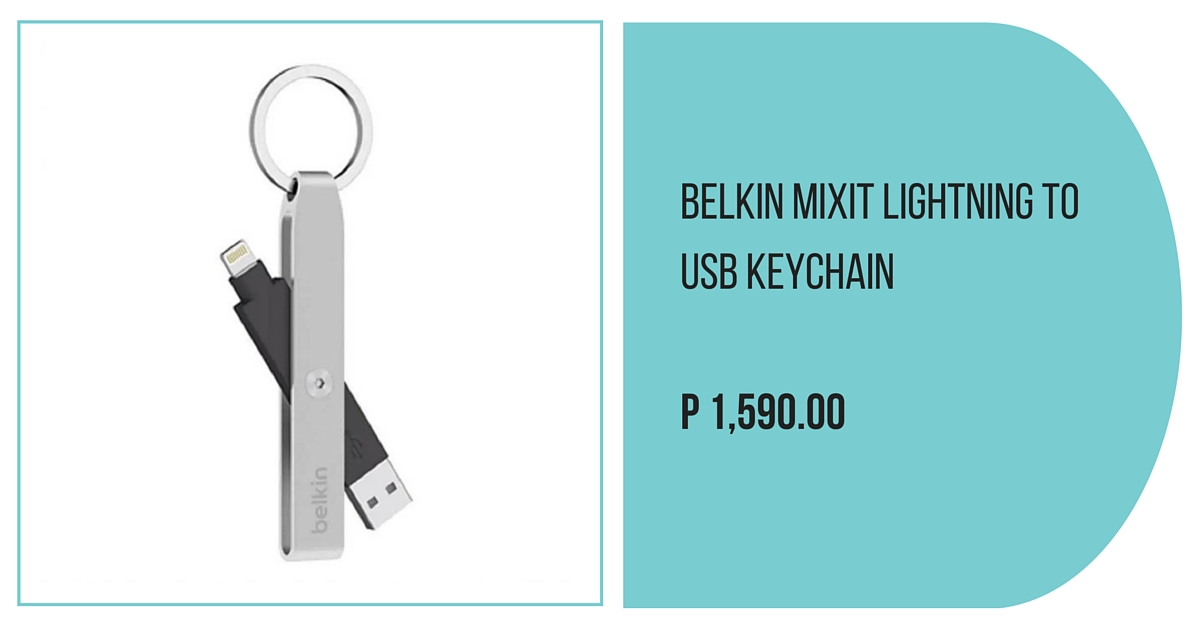 Belkin MIXIT Lightning to USB Keychain (Silver)