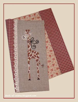 embroidery, cover, Gigi la girafe Tralala