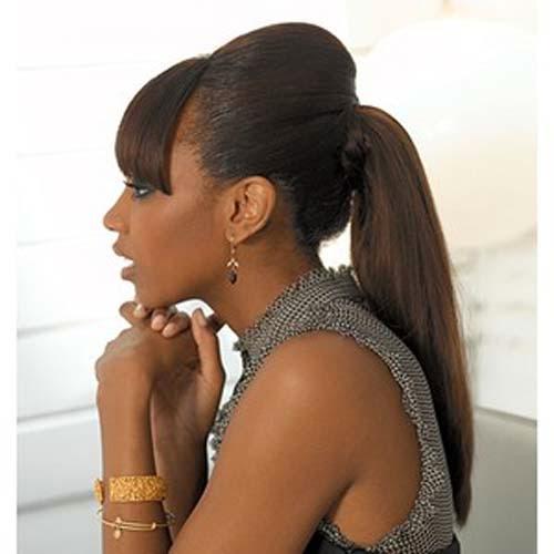 cute ponytail hairstyles black
