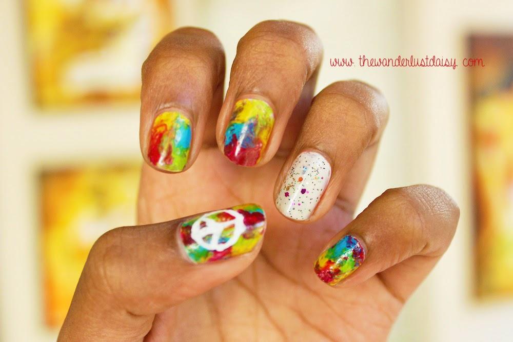 Hippie nail art the wanderlust daisy hippie nail art prinsesfo Choice Image
