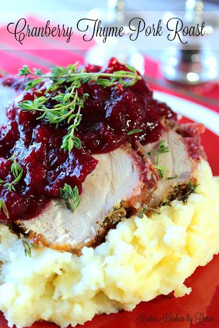 Cranberry Thyme Pork Roast
