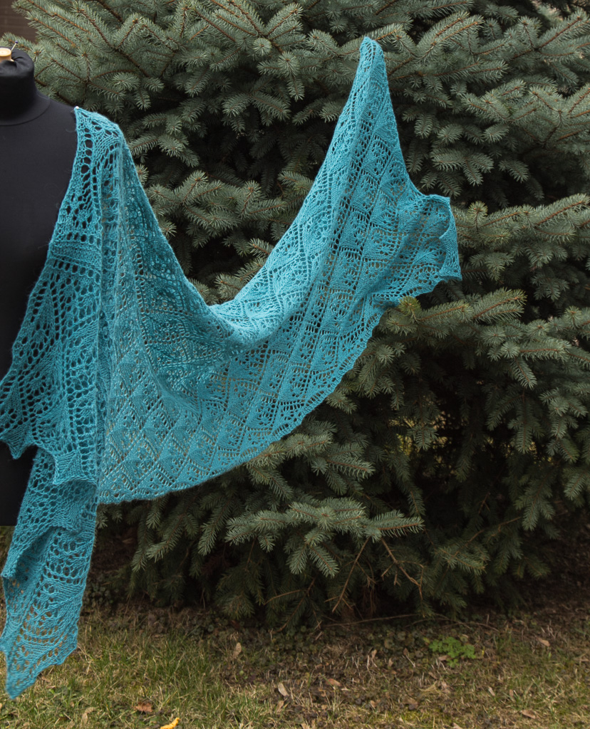 long knitted stole