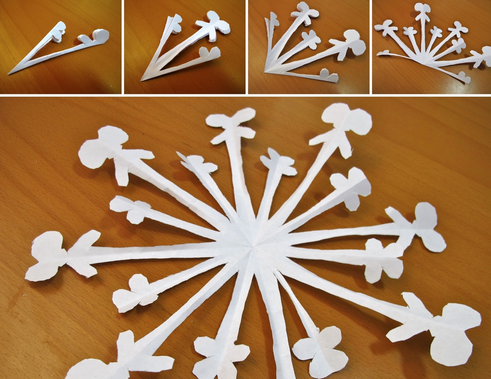 Paper Snowflake Cutting Patterns The more paper you cut out,
