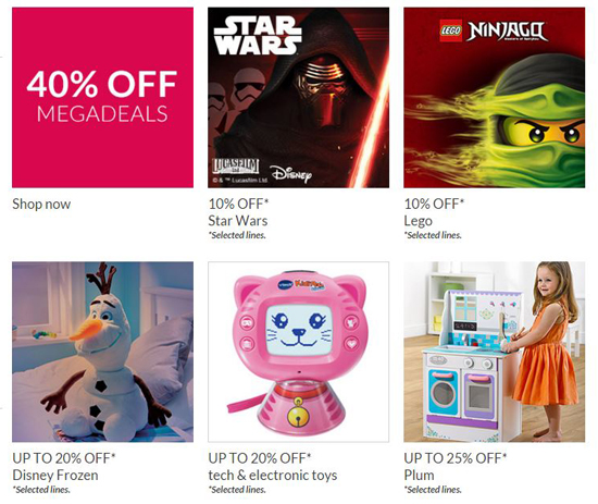 Don't forget to check out Debenhams MegaDeals