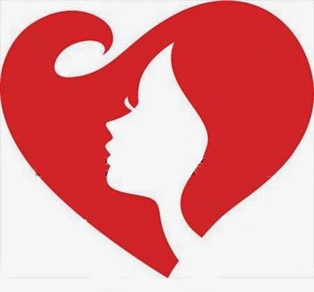Une femme dame dans un cœur rouge