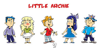 Little Archie proposed reboot - character line-up - Design and illustration by Cesare Asaro - Curio & Co. (Curio and Co. OG - www.curioandco.com)