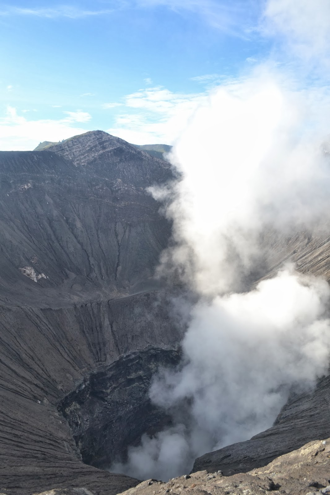 mount bromo smoking crater Indonesia