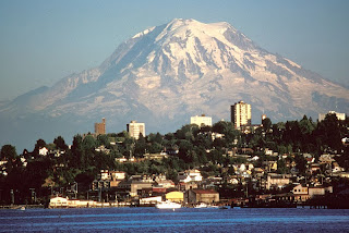mount ranier viewed from tacoma