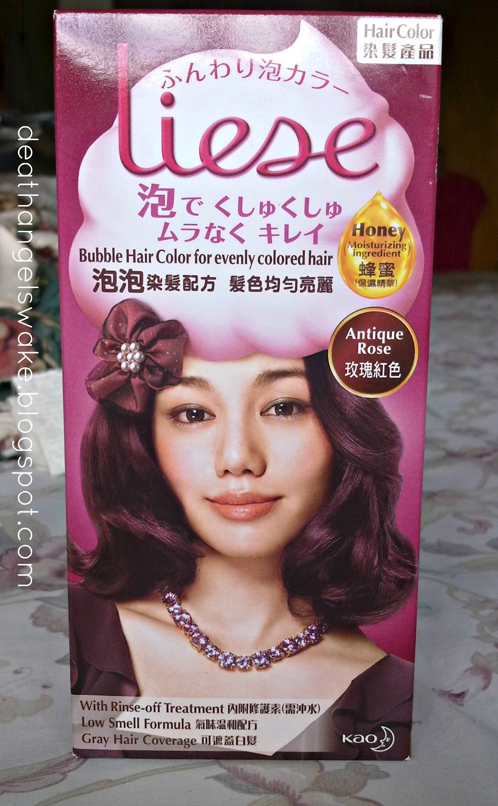 Chocolate Cherry Red Hair Color Kao liese bubble hair color in
