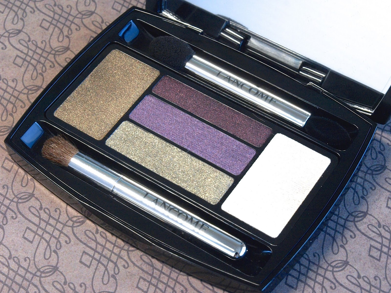 lancome french idole fall 2014 eyeshadow palette malachite amethyste review swatches