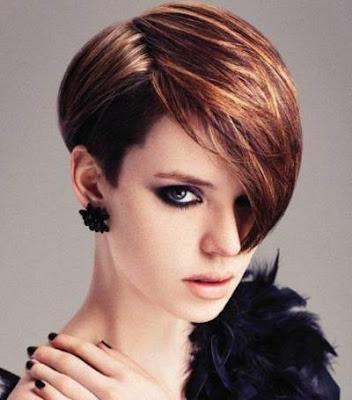Highlights untuk rambut pendek wanita 2016