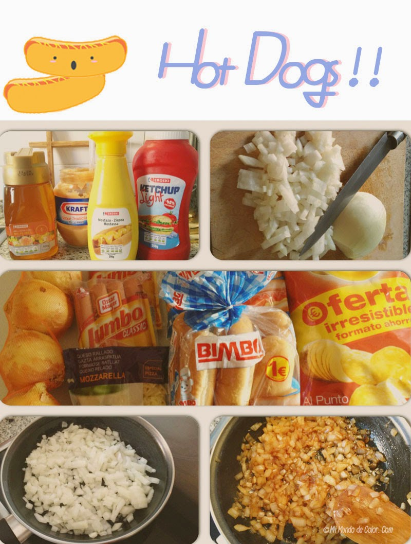 diy receta perro caliente