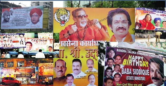 Political Hoarding in Mumbai