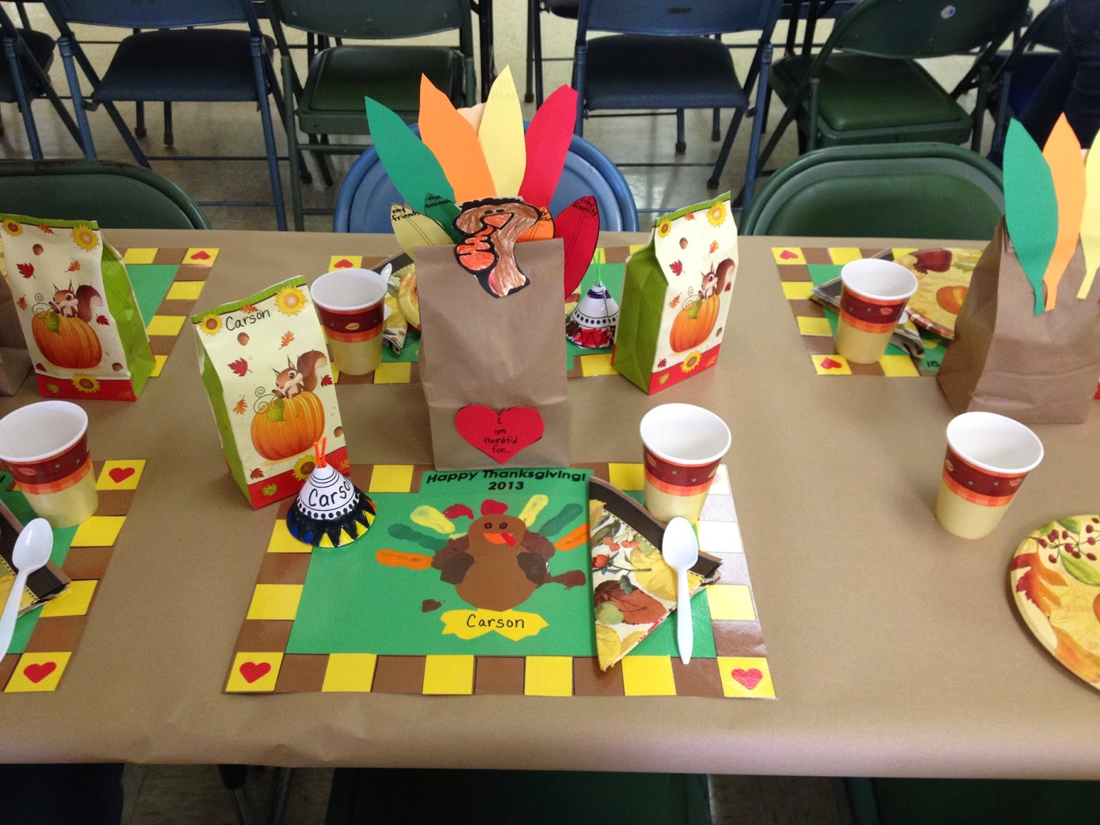 The demoor family thanksgiving preschool feast